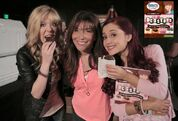 Jennette and Ariana supporting Lisa Lillien's Just Desserts book