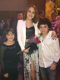 Cameron and his sister with Liz Gillies at 2013 pre-KCA party