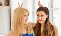 Ariana and Jennette at the Nesquik commercial