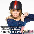 Sam fastening her helmet - promo pic for FavoriteShow