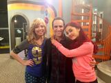 Ben Giroux with Jennette and Ariana on set for FavoriteShow