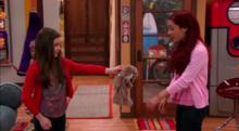 Ellie giving Cat Poober