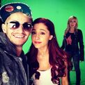 Ariana and Jennette with Frankie Grande