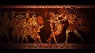Achilles in Lyrnessos, fight with Aeneas and meeting Briseis
