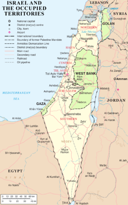 260px-Israel and occupied territories map