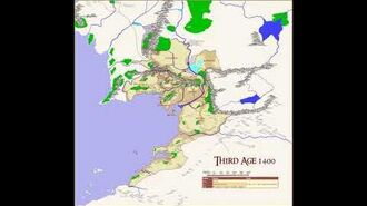 MAP OF MIDDLE EARTH. Animated Map of Gondor - timelapse Realms, Provinces & Population in TA