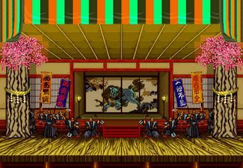 Tokyo stage, Neo Geo version.