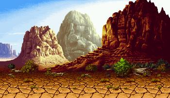 Texas stage, Neo Geo version.