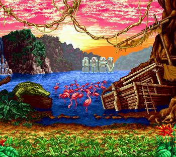 Green Hell Island, Neo Geo version.