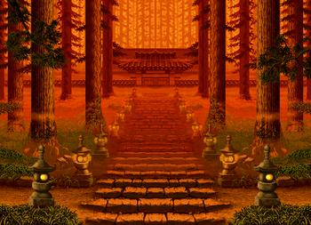 Temple, Samurai Shodown III version.