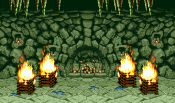 Onigami Isle stage, as seen in Neo Geo versions.