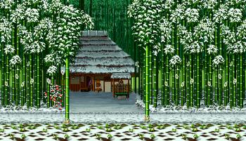 Bamboos stage, Samurai Shodown II version.