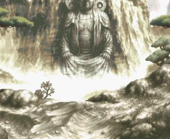 Great Buddha in the mountain.