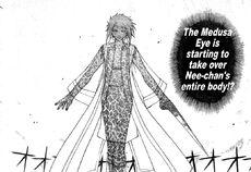 Medusa eye in Akari's body 06