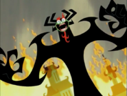 Aku laughing Evilly
