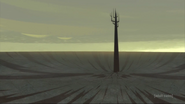 Aku's tower in the filed