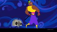 Young Da Samurai and boombox