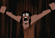 Jack's Father witnessing Aku's destruction