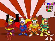 Samurai pizza cats wallpaper