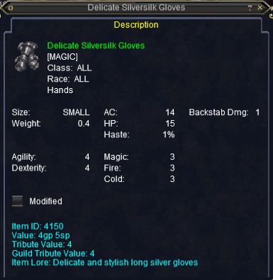 Silversilk Gloves