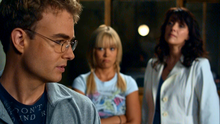 1x04 - Will, Ashley, and Helen observing the Folding Men