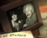 Albert Einstein mit Helen Magnus