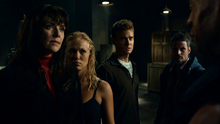1x03 - Magnus, Ashley, Will, and Henry facing the Cabal Team Leader
