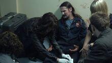 1x11 Dr. Magnus tends to Garvin's leg