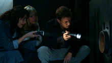 1x04 - Magnus, Ashley, and Will checking out the pipe