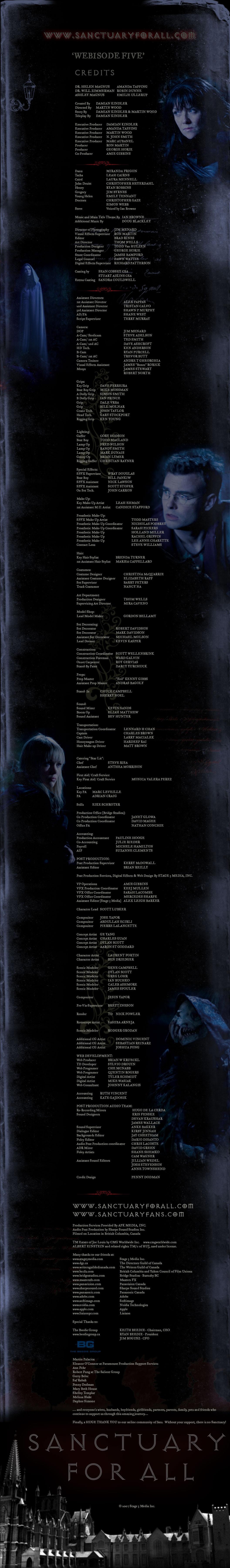 Webisode 5 (credits)