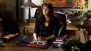 Helenmagnus11 128410186191 Helen Magnus at her desk in a scene from ''Instinct.''