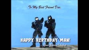 Dax and Icky Birthday Card