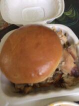 Urban barbecue chicken sandwich