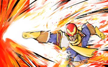 Captain falcon falcon punch by ishmam-d8n4ux5