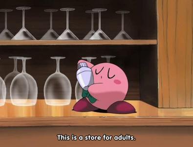 Kirby at Sanmo no bar