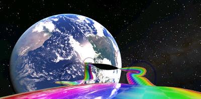 Rainbow road swag