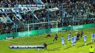 Gol de Piatti. Rafaela 2 San Lorenzo 1. Fecha 17. Torneo Inicial 2013. Fútbol Para Todos