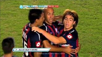Gol de Buffarini. Arsenal 1 - San Lorenzo 3. Fecha 10. Torneo Final 2013. Fútbol Para Todos