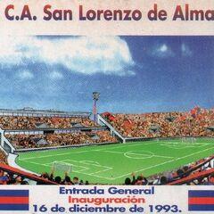 Entrada general utilizada para la inauguración del Estadio Pedro Bidegain
