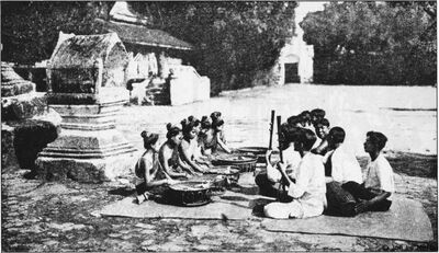 Laotian youth playing music