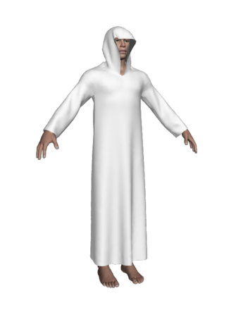 Cloak template Sansar male