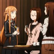 Asuna, Sasha y Yuriel en la realidad