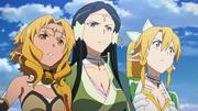 Alicia, Sakuya y Leafa