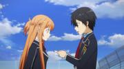 Kirito y Asuna azotea
