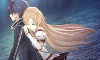 Kirito y Asuna abrazo tras error