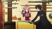 Kirito quebrando la espada