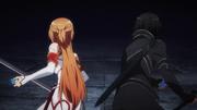 Kirito y Asuna en la sala del jefe