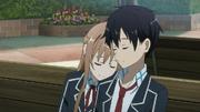 Kirito y Asuna instituto