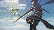 Duelo Leafa Kirito