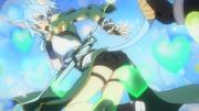 Kirito sujetando la cola de Sinon